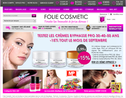 Codes promo et Offres Folie Cosmetic