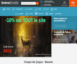 Codes promo et Offres AnimaBassin